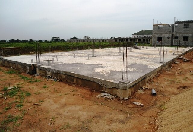 Building foundation in APDC Estate