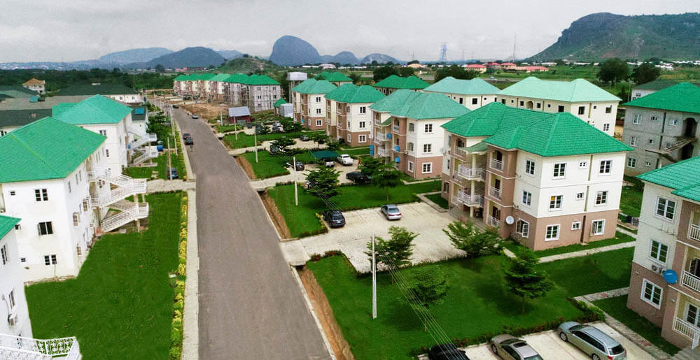 The street of APDC phase 1 estate Abuja